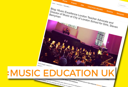 Guest blog for Music Education UK July 2017