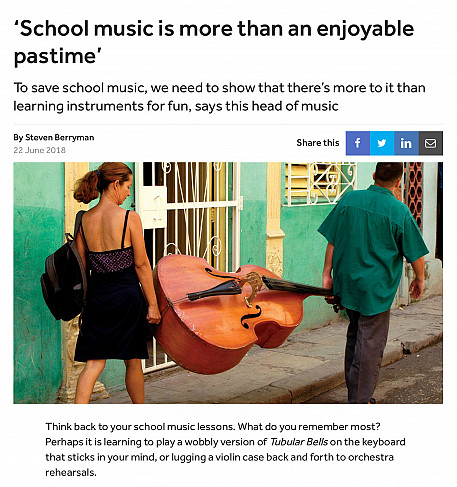 Article on school music for TES